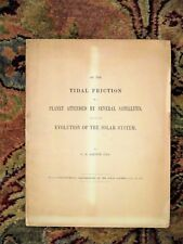 1881 G.H. DARWIN on TIDAL FRICTION of a PLANET and EVOLUTION of the SOLAR SYSTEM