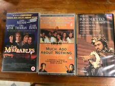 3 VHS Including Les Miserable