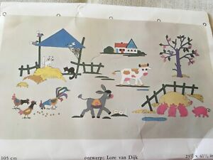 Dutch Embroidery , Appliqué Kit Unused Wall Hanging