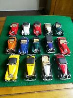Assortment of WELLY Old Timer Vintage Style Die Cast Cars (L63)  14 cars