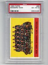 1963 Topps #65 New York Rangers Team Card, PSA 6 EX-MT, Vintage Hockey 1963-64