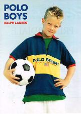 PUBLICITE ADVERTISING 015  1996  RALPH LAUREN   POLO BOYS  vetements enfants