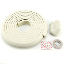 5M Nastro 4 Paraspigoli Protezione Schiuma Vetro Tavolo Bambino Sicurezza Bianco