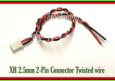 XH 2.5mm JST 2-Pin Female Connector plug with twisted wire 24AWG 200mm x 5 pcs