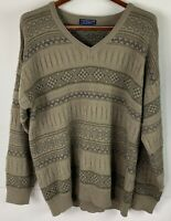 Tradewinds by Ansett Mens Ugly Cosby Sweater V-Neck Soft Wool Blend Size 2XL
