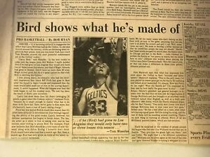 LARRY BIRD-(WHAT BIRD IS MADE OF) STORY AND 1980 MEN'S OLYMPIC HOCKEY V. FINLAND