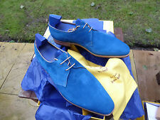 VT694 John Lobb - WILLOUGHBY - Ocean Blue Cashmere Suede UK 11.5 E - 8000 Last