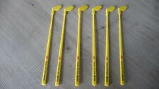6 Touilleurs GOLF J&B JB J B Whisky  stirrers sticks