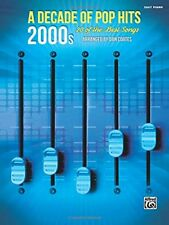 """A Decade of Pop Hits """"2000s"""" MUSIC BOOK FOR EASY PIANO-BRAND NEW ON SALE-20 SONG"""