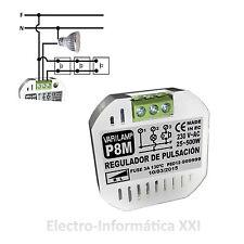 Regulador De Luz E Intensidad Pastilla 500w Varilamp Pulsar P8m - E.Certificado