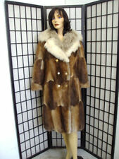 ~MINT CANADIAN MUSKRAT & MONTANA LYNX FUR COAT JACKET WOMEN WOMAN SIZE 4 PETITE