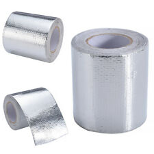 Universal Engine Exhaust Pipe High Heat Foil Tape Shield Fiberglass Wrap Roll 5M