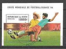 Football Bénin (44) bloc oblitéré