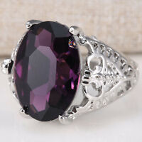 Huge 6Ct Natural Alexandrite Ring 925 Silver Bridal Wedding Engagement Size 6-10