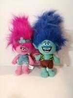 New Dreamworks TROLLS True Colors Branch & Poppy Licensed Plush Stuffed Toys