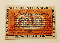 FLENSBURG NOTGELD 50 PFENNIG 1920 NOTGELDSCHEIN (10992)