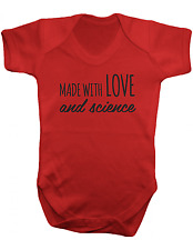 Made With Love and Science - Baby Bodysuit- Colour  -100% Cotton