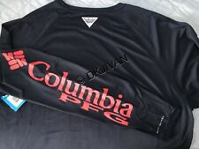 Columbia Pfg Terminal Tackle Longsleeve Navy Swimming Fishing Shirt S Men NewTag