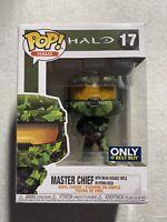 Halo Funko Pop #17, Master Chief w/ MA40; Best Buy Exclusive; Severe Box Damage