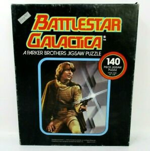 Vintage Battlestar Galactica Starbuck Puzzle 1978 Space Battle 140 piece