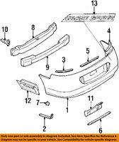 MITSUBISHI OEM 97-99 Eclipse Rear Bumper-Bumper Cover Retainer Plate MR236502