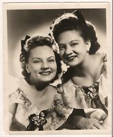 40s DeZurik Sisters Publicity Photo Carolyn Lorraine WLS National Barn Dance WLW
