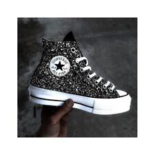 CONVERSE All star Platform Black Glitter e Spike Personalizzata