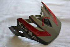 TROY LEE DESIGNS VORTEX MOTORCYCLE HELMET VISOR GREY RED BLACK