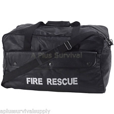 "20"" Heavy Duty Leather Fire Rescue Bag with 3 Pockets! Great for Survival Kits!"