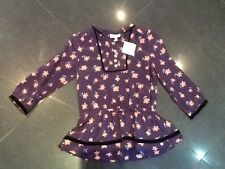 NWT Juicy Couture New & Genuine Girls Age 10  Purple Floral Blouse With Logo