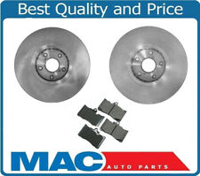 L & R Front Brake Rotor & Front Ceramic Brake Pads for Lexus 2006-2011