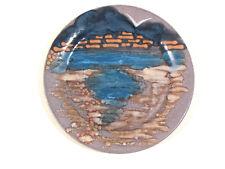 Seltener KMK Kupfermühle Keramik Wandteller See Fluss stilisiert Ø 25.5 cm