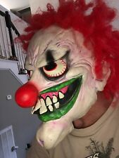 Vintage Creepy Clown Mask Latex Adult Size Halloween Mask Paper Magic 2002
