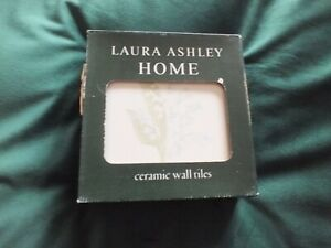 Vintage Laura Ashley Tiles - Lily of the Valley Chambray BNIOP set of 6