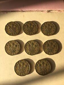 George VI Threepenny Bits. 1937/40/1/2/3x2/4/5