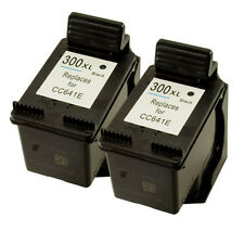 2x HP 300XL Black CC641EE Refilled Ink Cart for Deskjet F2400 F2420 F2476 F2480