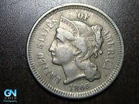 1865 3 Cent Nickel Piece    BETTER GRADE!  NICE TYPE COIN!  #B6606