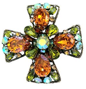 Regency Rhinestone Maltese Cross