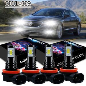 For Buick LaCrosse 2005-2013 LED Headlight High Low Bulbs Combo Kit 6000K White