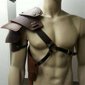Medieval Multilayer Leather Rivet Shoulder Armor Harness Warrior Gladiator LARP