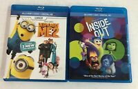 Lot of 2 Blu-ray Disc Movies Despicable Me 2 & Disney's Inside Out