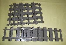 Lego 9  V Eisenbahn: 10 gerade Schienen 4515 mit Metallauflage