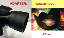LENS ADAPTER+FLOWER HOOD to CAMERA NIKON Coolpix L330 L340 67mm