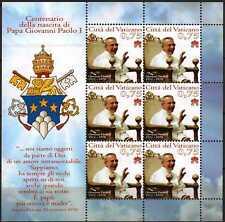 Vatikan 2012 KB Klbg Kleinbogen Nr.1744 ** postfrisch Geburtstag Johannes Paul I