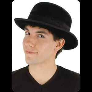 Black Velvet Bowler Hat Costume Cosplay Fancy Dress by Elope