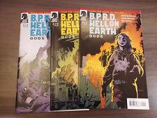 BPRD Hell on Earth Gods (2011) #1-3 Set Mike Mignola John Arcudi Guy Davis