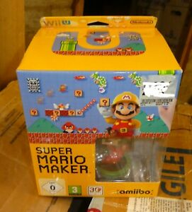 Wii U Mario Maker Amiibo brand new Figure Game box set edition