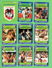 1990  ST GEORGE DRAGONS  STIMOROL RUGBY LEAGUE CARDS