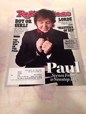 Rolling Stone Magazine November 7, 2013 Paul McCartney LORDE MASTERS OF SEX~MINT