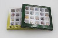 2x20 block NATURAL rare beautiful Collectables Mixed Gemstone Stone